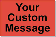"Custom Paper Label, 500 per Roll 4 x 6"" Fluorescent Red"