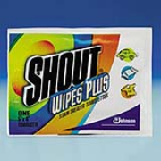Shout® Wipes Plus Stain Treater Towelettes cs/80