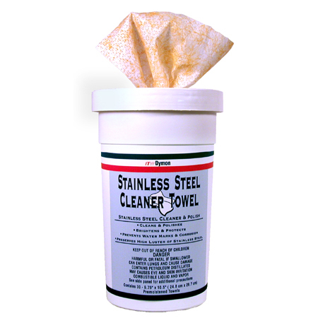 SCRUBS® Stainless Steel Cleaner Wipes 9.25 x 10.5, cs/180
