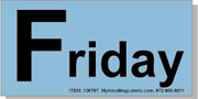 """""""Friday"""" Shipping Labels 2 x 4"""" Blue"""