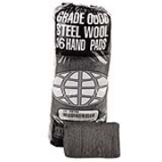 Industrial-Quality Steel Wool Hand Pads #0000 cs/192