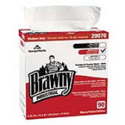 "Brawny Industrial® Premium All-Purpose Wipers - White, 9.25""x16.3"", cs/900"