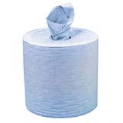 "DuraWorks® Spunlace Creped Perforated Jumbo Roll - Blue, 12.5""x13.1"", cs/825"