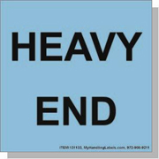 """""""Heavy End"""" Shipping Labels 4 x 4"""" Blue"""