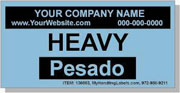 """""""Heavy"""" Personalized Bilingual Spanish Shipping Labels 2 x 4"""" Blue"""