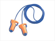 Corded Metal Detectable Earplugs NRR 32 (box/100-pr)