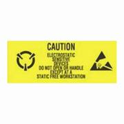 """1x2-1/2"""" Caution Electrostatic Sensitive Devise Do Not Open  Label rl/500"""