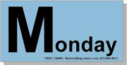 """""""Monday"""" Shipping Labels 2 x 4"""" Blue"""