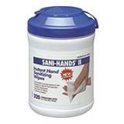 Sani-Hands® II Instant Hand Sanitizing Wipes -220 cnt Canister