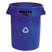 Brute® Round Recycling Containers 32-gal. (Blue) 1/ea