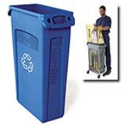 Slim Jiml® Recycling Container with Venting Channels 23-gal. (Blue) 1/ea