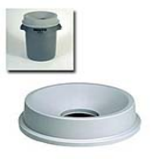 Funnel Top for 32-gal. Round Brute® Container (Light Gray) 1/ea