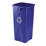 Untouchablel® Square Recycling Containers 23-gal. (Blue) 1/ea