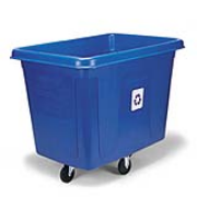 Bulk Recycling Cube Truck 16-cubic feet (Blue) 1/ea
