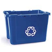 Recycling Box 14-gal. (Blue) 1/ea