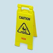Folding Floor Sign (Caution/multilingual) 1/ea
