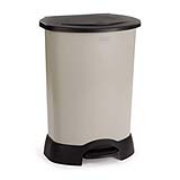 Stainless Steel/Plastic Medical Waste Step-On Containers 23-gal. Steel/Black 1/ea