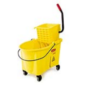 Yellow WaveBrake® 44-qt. Foot-Activated Mop Bkt./Side-Press Wringer Combo 1/ea