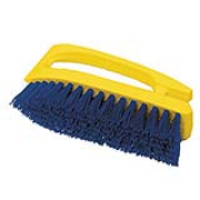 "Iron Handle Scrub Brush - 6"" Polypropylene Bristles 1/ea"