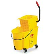 Yellow WaveBrake® 26-qt. Mop Bucket & Side-Press  Wringer Combo 1/ea