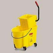 Yellow WaveBrake®  35-qt. Mop Bucket & Side-Press Wringer Combo 1/ea