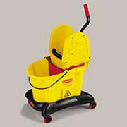 Yellow WaveBrake®  Dual Water 35-qt. Mop Bucket & Down Press Wringer Cmbo. 1/ea