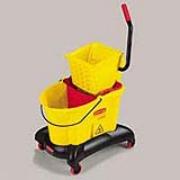 Yellow WaveBrake®  Dual Water 35-qt. Mop Bucket & Side Press Wringer Cmbo. 1/ea
