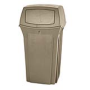 Rangerl® 35-Gallon Hooded-Top Container (Beige) 1/ea