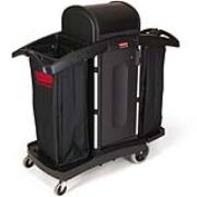 Full Size High-Security Housekeeping Cart with Locking Hood 1/ea