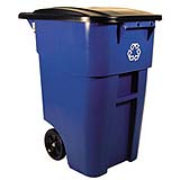 Brute® Recycling Rollout Container 50-gal. (Blue) 1/ea