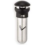 Infinity™® Wall-Mount Outdoor Smoking Receptacle (Steel/Black) 1/ea