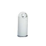 Steel Fire-Safe Dome Top Receptacle 15-gal. (White) 1/ea