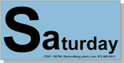 """""""Saturday"""" Shipping Labels 2 x 4"""" Blue"""