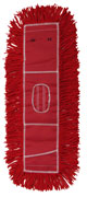 "Premium Launderable Dust Mop red 24 x 5"" 1/ea"