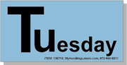 """""""Tuesday"""" Shipping Labels 2 x 4"""" Blue"""