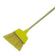 Angler Broom With Plastic Bristles & Metal Handle 42""