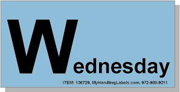 """Wednesday"" Shipping Labels 2 x 4"" Blue"