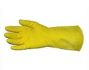 "16-Mil 12"" Yellow Flock Lined Latex Gloves No. 8 12/pair"