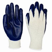 """Economy Latex Smooth Coated Gloves """"M"""" blue/white 12/pair"""