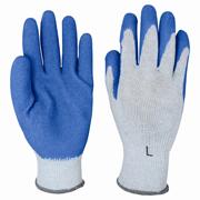 "Premium Crinkle Latex Coated Gloves ""S"" blue/gray 12/pair"