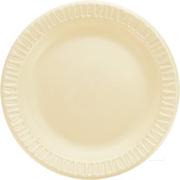 "Quiet Classic® Honey Extra Strength Foam Plate 9"" cs/500"