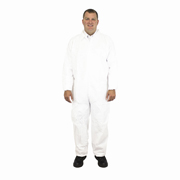 Disposable Coveralls, Tyvek® Substitute, Elastic Wrist & Ankles (S) White cs/25