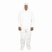 Disposable Coveralls, Tyvek® Substitute, Hood, Boots & Elastic Wrist (L) White cs/25