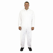 Polypropylene Disposable Coverall, Elastic Wrist & Ankles, For Dust Protection (M) White cs/25