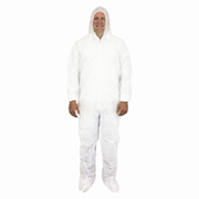 Polypropylene Disposable Coverall with Hood, Boots & Elastic Wrist, For Dust Protection (M) White cs/25