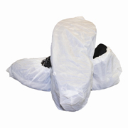 Disposable Water Resistant Shoe Cover, White Polyethylene (L) cs/300