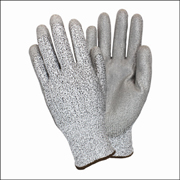 Cut Resistant ANSI-3 Gray High Pressure Polyethylene knit, Polyurethane Coated Glove (2X) 1/pair