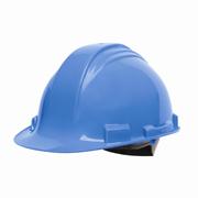 North® Peak® Hard Hat w/4-pt. Ratchet Suspension, Sky Blue 1/ea