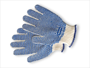 """North® PVC """"N-Tread"""" Coated String  Knot Gloves (S) 12/pr"""