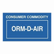 """2-1/4x1-3/8""""ORM-D AIR Consumer Commodity Label rl/500"""